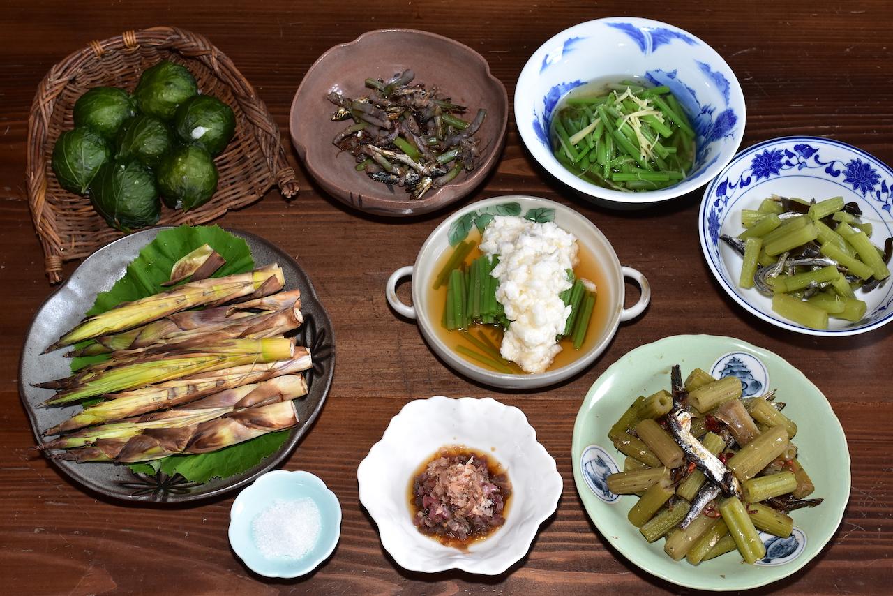 晩春の山菜料理